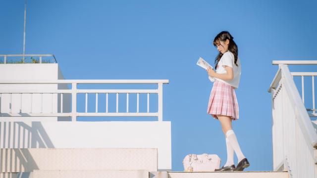 日系小清新jk美女甜美诱人写真插图5