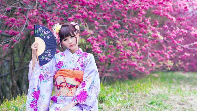 知性文雅的日本和服玉人插图6