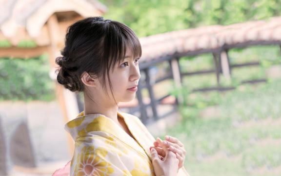 冷艳时间的日系和服美少女写真插图