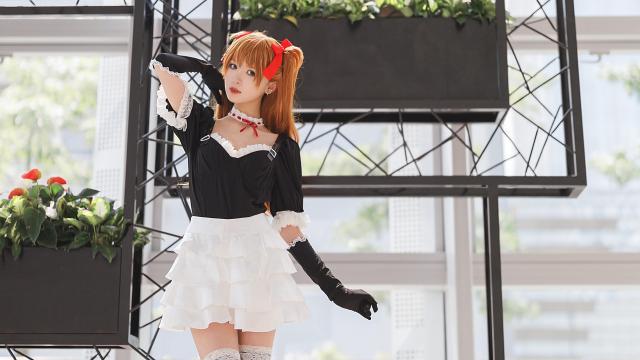 EVA明日香纯情女仆装cosplay写真插图5