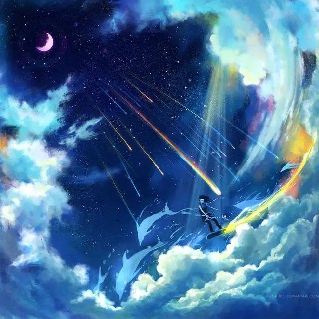 唯美动漫壁纸:星空系列,看不完人间的美景,道不尽人生的哲理!插图3