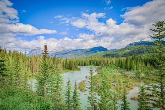 加拿大班夫国家公园秀丽自然风光插图1