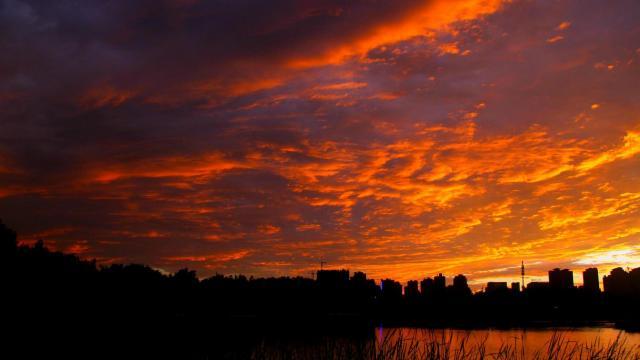 最美的大自然火烧云风光插图3