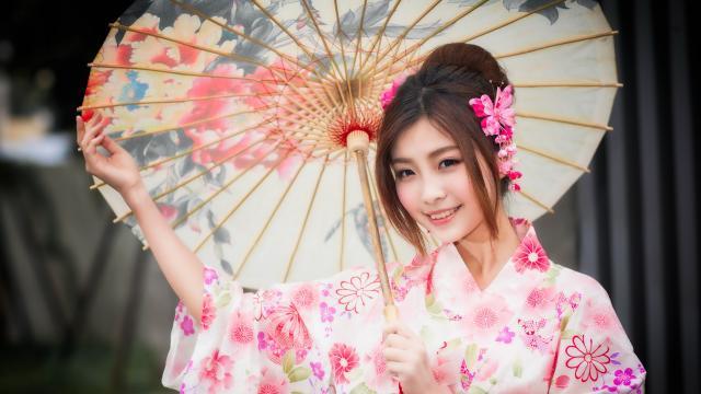 知性文雅的日本和服玉人插图8