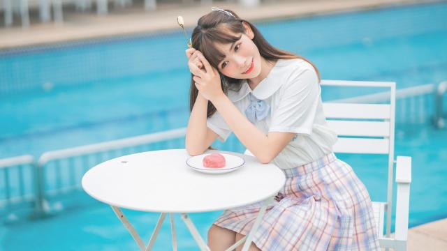 jk甜食少女甜蜜呆萌礼服诱惑写真插图8