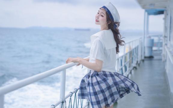 jk礼服少女纯洁引诱海上福利写真插图6