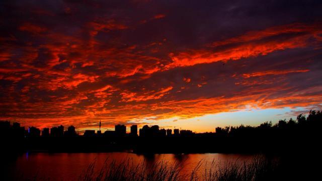 最美的大自然火烧云风光插图7