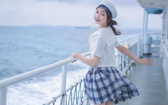 jk礼服少女纯洁引诱海上福利写真插图1