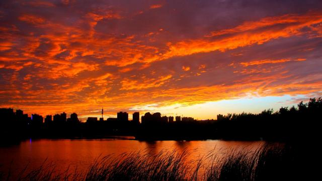最美的大自然火烧云风光插图2