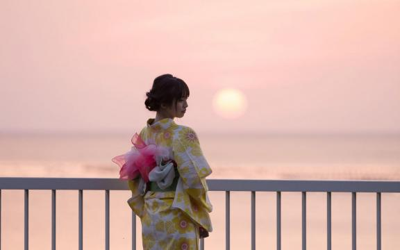 冷艳时间的日系和服美少女写真插图9