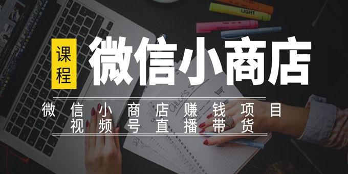 微信小商店实操项目:嫁接视频号直播带货的玩法【视频课程】副业项目