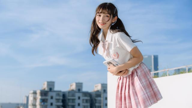 日系小清新jk美女甜美诱人写真插图6