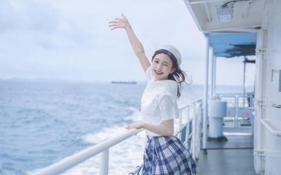 jk礼服少女纯洁引诱海上福利写真插图7