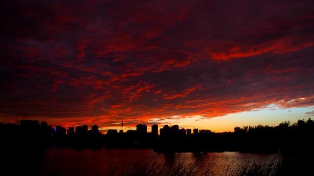 最美的大自然火烧云风光插图8