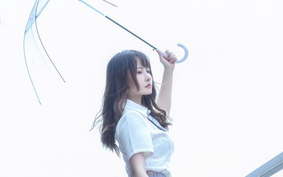 日系纯洁jk礼服少女天台甜蜜可爱写真插图4