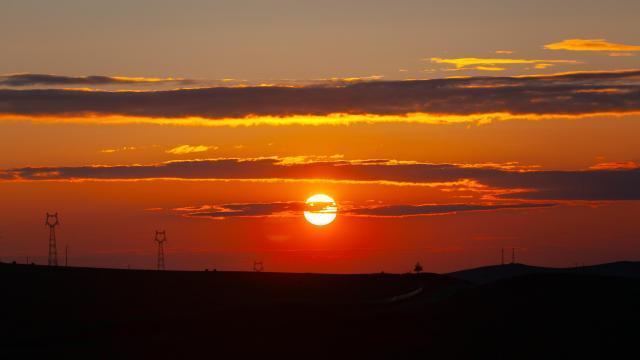 最美的草原日落插图1