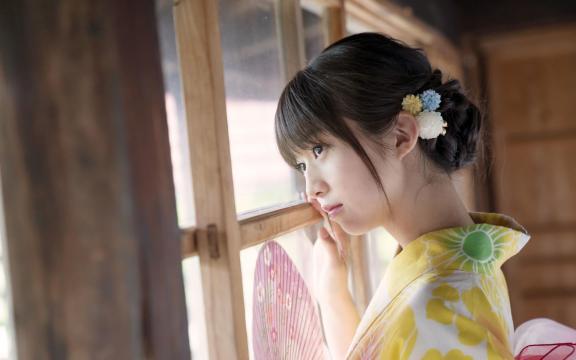 冷艳时间的日系和服美少女写真插图2