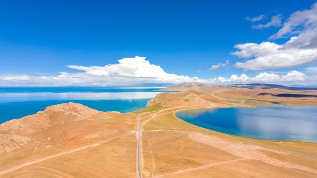 国庆旅游西藏色林措清新自然风光插图1