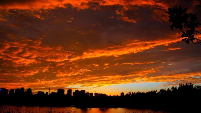 最美的大自然火烧云风光插图