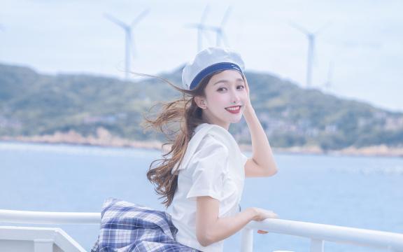 jk礼服少女纯洁引诱海上福利写真插图3