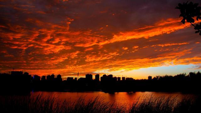 最美的大自然火烧云风光插图4