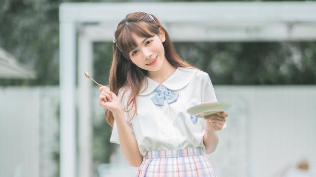 jk甜食少女甜蜜呆萌礼服诱惑写真插图5