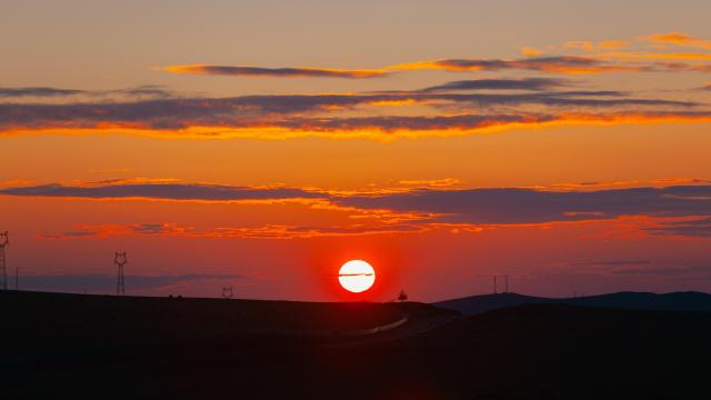 最美的草原日落插图2