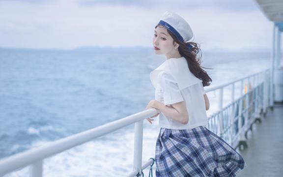 jk礼服少女纯洁引诱海上福利写真插图8