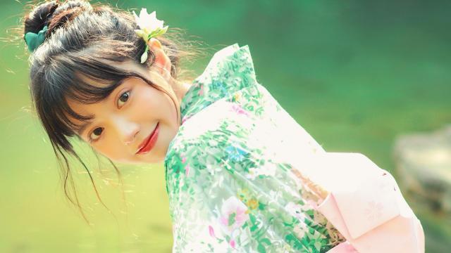 和服小仙女清新唯美写真插图4