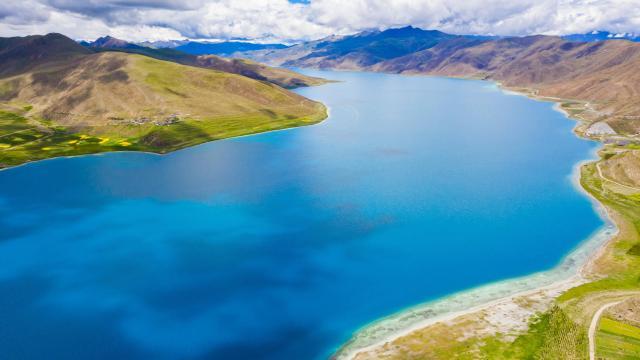 西藏圣湖羊卓雍措国庆旅游风景插图2