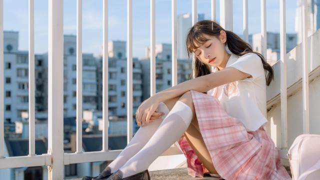 日系小清新jk美女甜美诱人写真插图