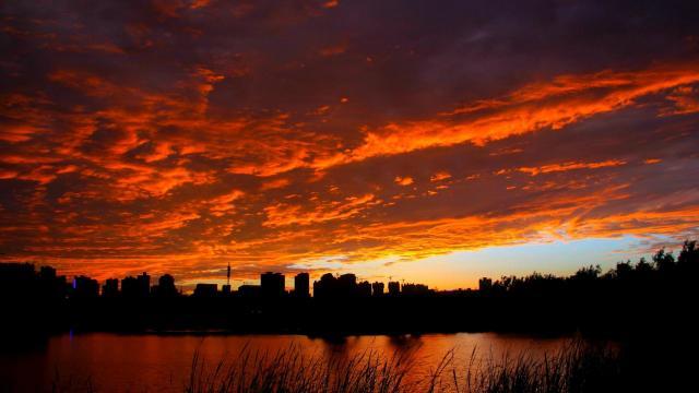 最美的大自然火烧云风光插图1