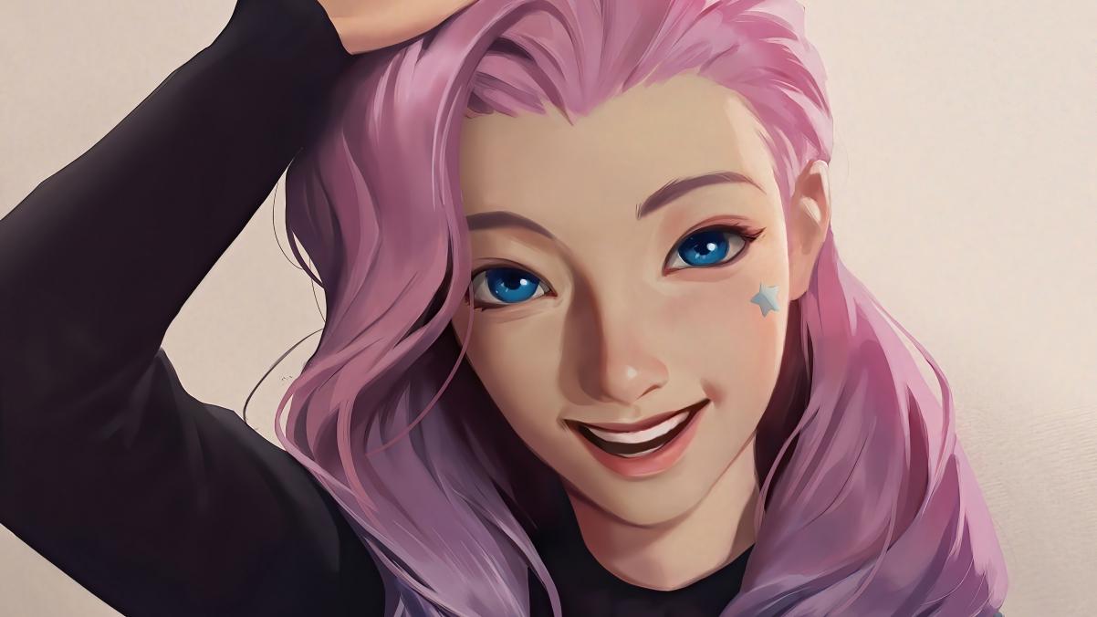 LOL英雄聯盟KDA The Baddes 可愛女孩塞爾菲婭4k遊戲壁紙3840×2160插图