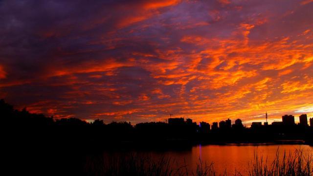 最美的大自然火烧云风光插图5