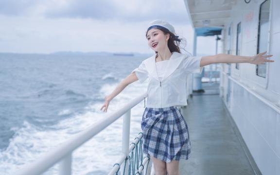 jk礼服少女纯洁引诱海上福利写真插图