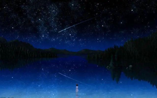 唯美动漫壁纸:星空系列,看不完人间的美景,道不尽人生的哲理!插图1
