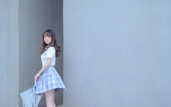 日系纯洁jk礼服少女天台甜蜜可爱写真插图
