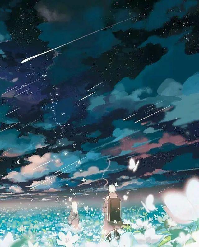 唯美动漫壁纸:星空系列,看不完人间的美景,道不尽人生的哲理!插图5