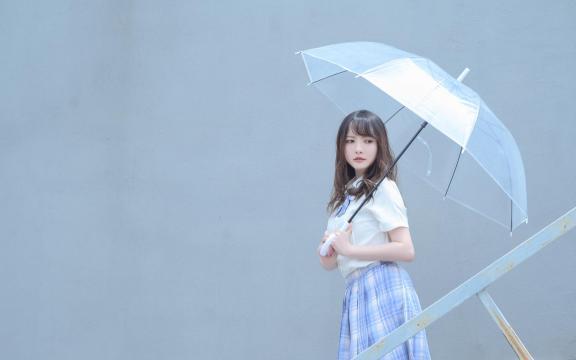 日系纯洁jk礼服少女天台甜蜜可爱写真插图1