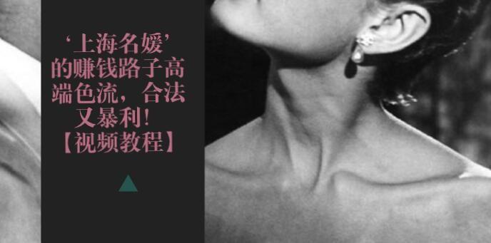 上海名流高端色流的周边项目,一个月小几万肯定没问题!副业项目