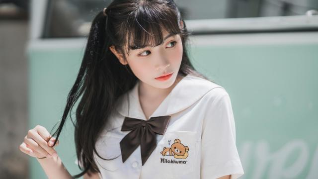 青春活力jk少女白嫩俏皮写真插图8
