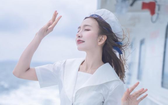 jk礼服少女纯洁引诱海上福利写真插图4