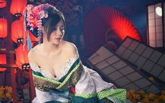 性感妖娆的日本和服玉人私房写真插图8